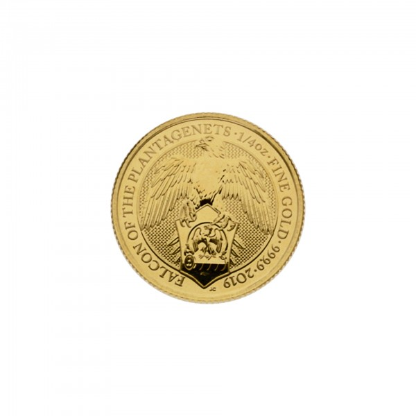 "1/4 oz England 2019 The Queens Beasts ""Falcon"" 25 GBP 999,9 Goldmünze"