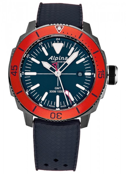 Alpina Seastrong Diver GMT Datum Quarz AL-247LNO4TV6