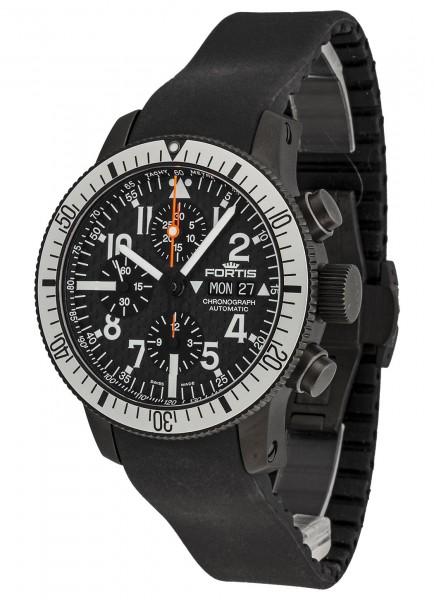 Fortis B-42 Black Titanium Carbon Dial Chronograph 638.28.61 K