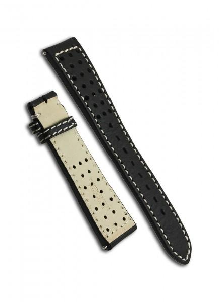 Armand Nicolet J09-1 Uhrenarmband Leder Schwarz 22mm/18mm