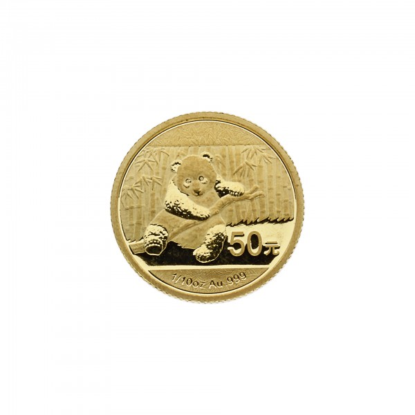 "1/10 oz Goldmünze China 2014 ""Panda"" - 1/10 Unze 999,99/1000 Gold"
