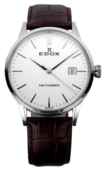 Edox Les Vauberts Three Hands Date 70162 3 AIN