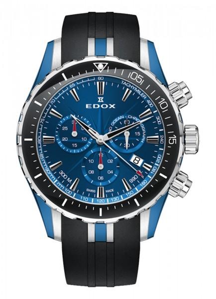 EDOX Grand Ocean Chronograph Datum Quarz 10248 357BU BUIN