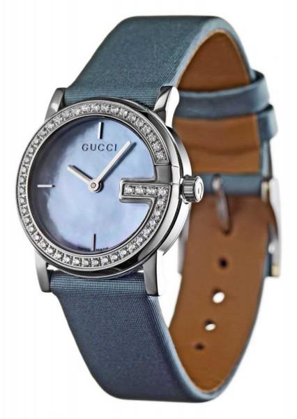 Gucci 'G' Damenuhr mit Diamanten YA101508