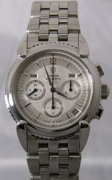 Concord Impresario Herren Uhr S/S Chronograph Silver Dial 3089