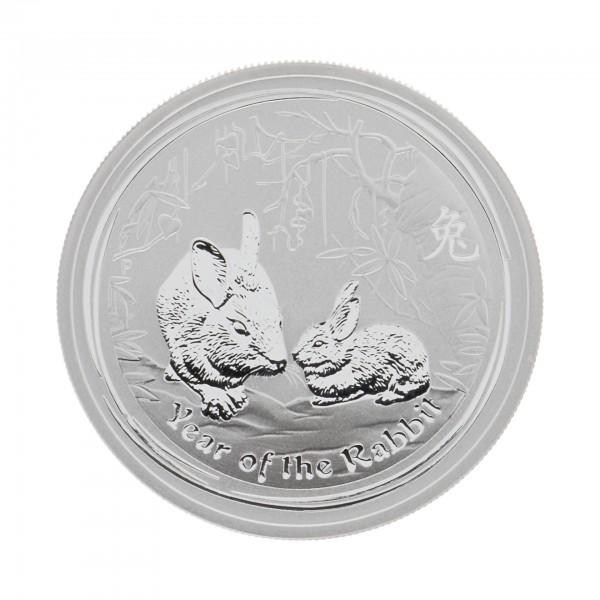 "1/2 oz Australien 2011 Lunar II ""Year of the Rabbit"" (Hase) 1/2 Unze 999 Silber"