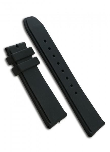 Armand Nicolet Uhrenarmband Kautschuk Schwarz 24mm/22mm