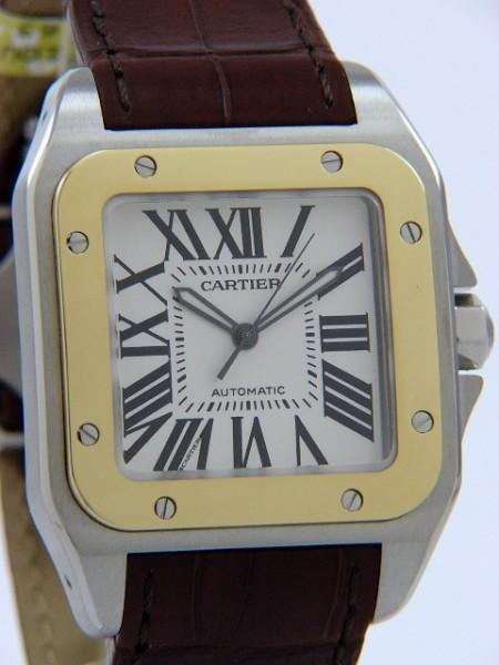 Cartier Santos 100 Stahl/Gold W20 72 X7