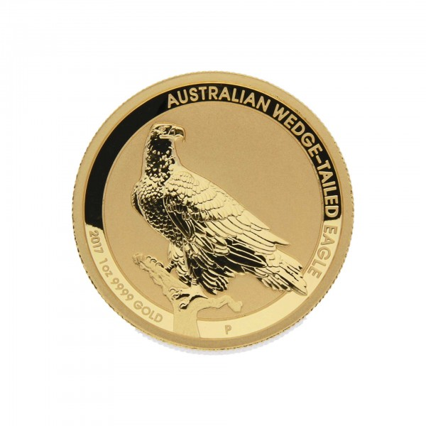 """1 oz Australien 2014 Lunar II """"Wedge-Tailed Eagle"""" 100 AUD Proof High Relief"""