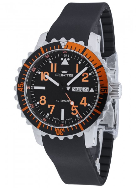 Fortis Aquatis Marinemaster Day/Date Orange 670.19.49 K