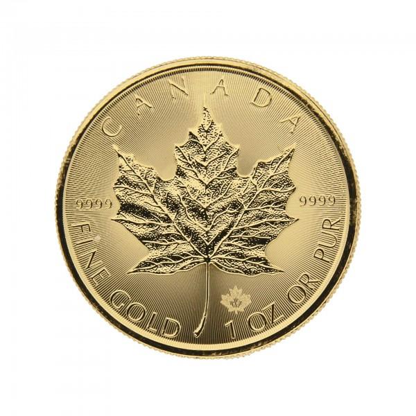 """1 oz Kanada 2017 """"Gold Maple Leaf"""" 50 Dollar 999,9 Goldmünze"""