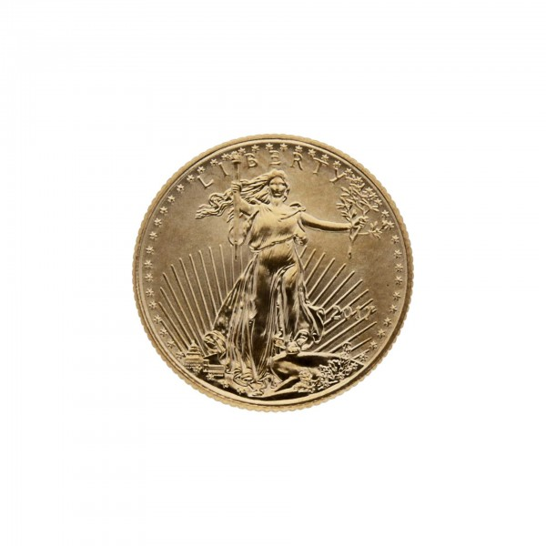 "1/10 oz USA 2017 ""American Gold Eagle"" 5 Dollar Goldmünze"