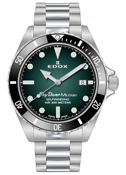 EDOX SkyDiver Military Limited Edition Datum Automatik 80115 3N VD
