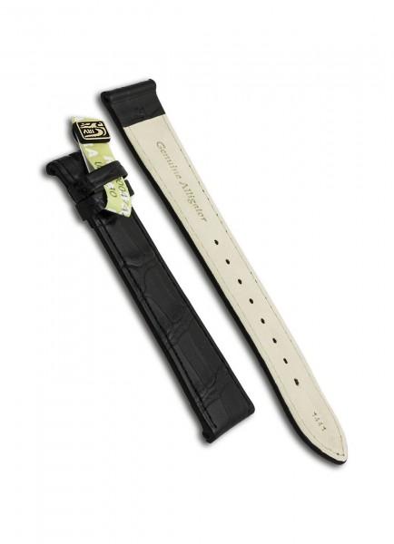 Junghans Uhrenarmband Alligator Schwarz 21mm/18mm