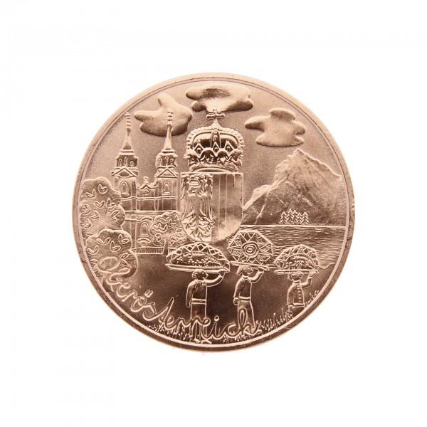 """10 Euro Kupfermünze Österreich """"Oberösterreich"""" 2016"""