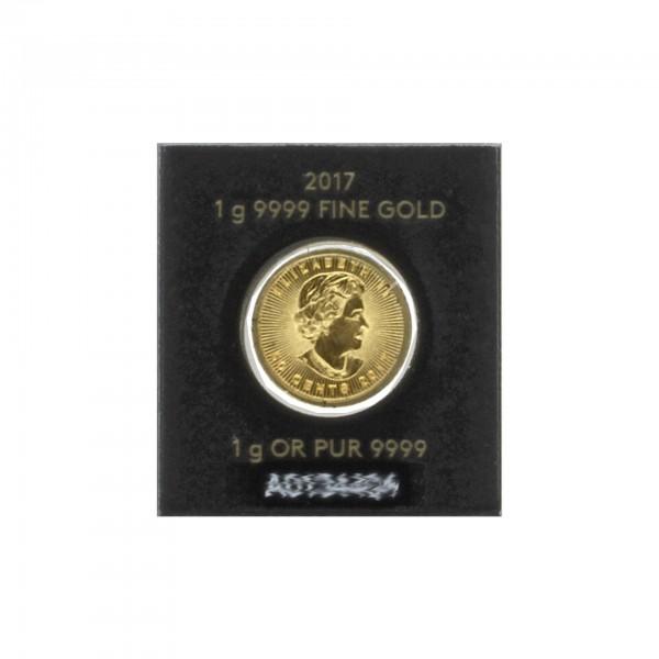 1 g Kanada Maple Leaf 2017 0,50 CAD 2016 - 999,9 Gold