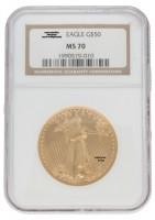 1 oz USA American Eagle Goldmünze 50 USD Gold - NGC Certified MS-70