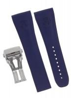 Armand Nicolet Uhrenarmband aus Kautschuk (Blau) 24mm/18mm mit Faltschließe
