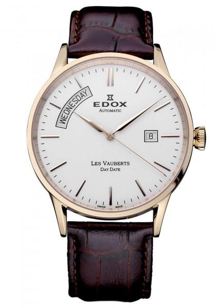 Edox Les Vauberts Day Date Automatic 83007 37R AIR