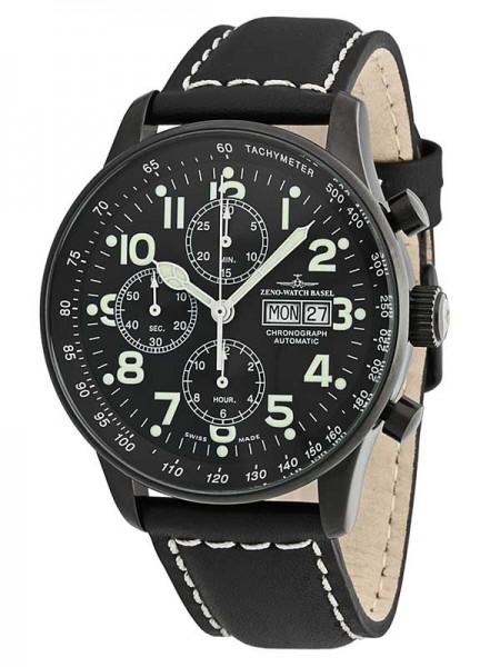 Zeno Watch Basel XL Pilot Blacky Chronograph P557TVDD-bk-a1
