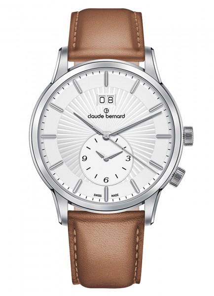 Claude Bernard Classic 2nd Time Zone Großdatum GMT Quarz 62007 3 AIN