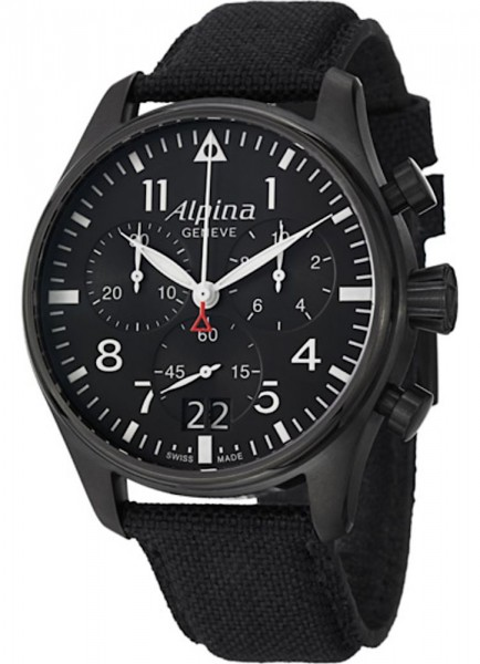 Alpina Startimer Pilot Großdatum Chronograph Quarz AL-372B4FBS6