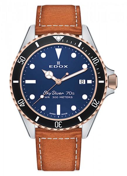 EDOX SkyDiver 70s Date Datum Quarz 53017 357RNC BUI