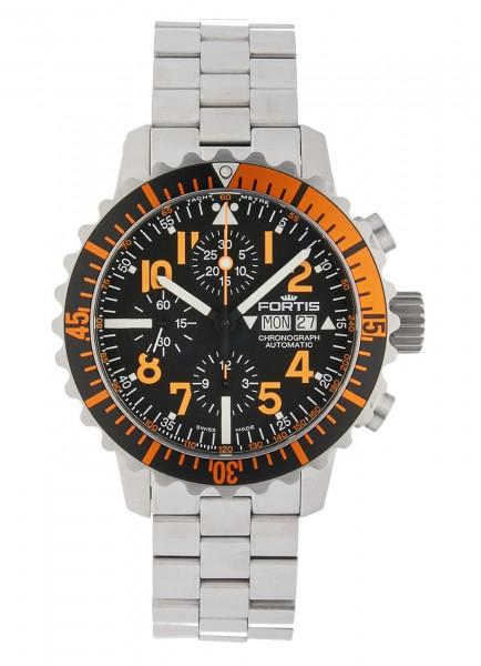 Fortis Aquatis Marinemaster Automatik Chronograph Orange 671.19.49 M