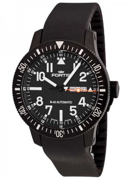 Fortis B-42 Official Cosmonauts Day/Date Black 647.28.71 K