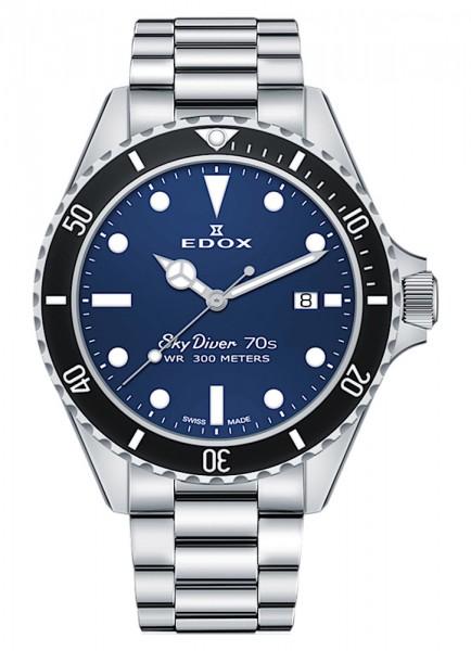 EDOX SkyDiver 70s Date Datum Quarz 53017 3NM BUI
