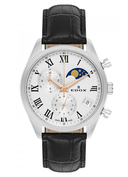 Edox Les Vauberts Chronograph Mondphase Datum Quarz 01655 3 ARR
