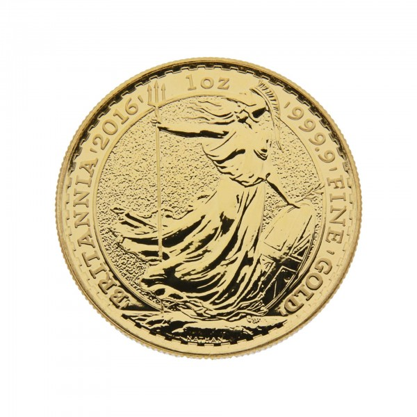 "1 oz England 2016 ""Britannia"" 100 GBP 999,9 Goldmünze"