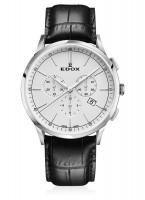 Edox Les Vauberts Chronograph Datum Quarz 10236 3C AIN