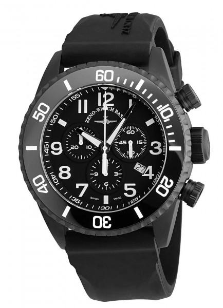 Zeno-Watch Basel Airplane Diver Chronograph 6492-5030Q-BK-a1