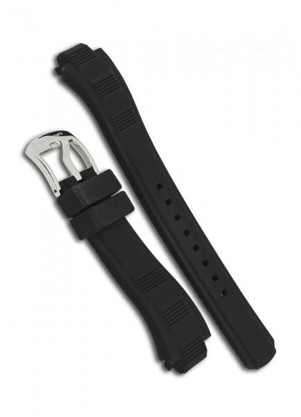 Officina del Tempo OT1041 Uhrenarmband Kautschuk Schwarz 22mm/22mm mit Dornschließe