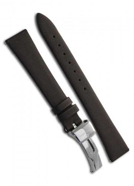 Maurice Lacroix Uhrenarmband Divina Textil Braun 18mm/14mm mit Faltschließe