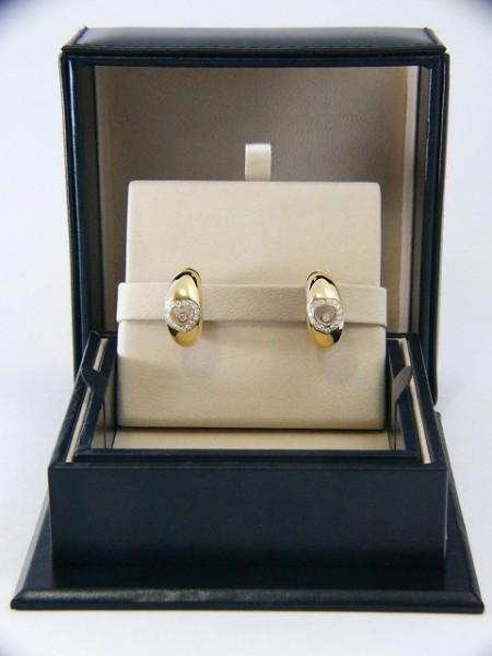 Chopard Ohr Clips 'Happy Diamonds' aus 18Kt Gold 32 Diamanten