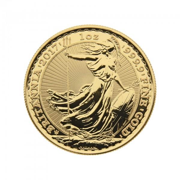 """1 oz England 2017 Jubiläumsedition 30 Jahre """"Britannia"""" 100 Pfund 999,9 Goldmünze"""