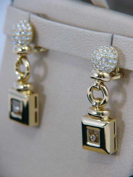 Chopard Ohr Clips 'Happy Diamonds' aus 18Kt Gold 174 Diamanten