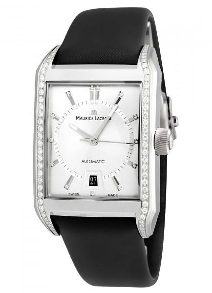 Maurice Lacroix Pontos Rectangulaire Automatik mit Diamanten PT6247-SD501-150
