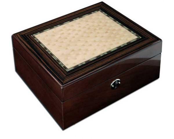 Uhrenbox für 6 Uhren und Schmuck / BRAUN - 7584