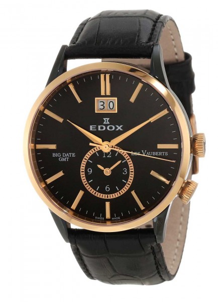 Edox Les Vauberts Big Date GMT 62003 357RN NIR