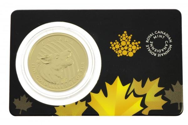 "1 oz Kanada 2014 Call of the Wild ""Howling Wolf"" 1 Unze 999,99 Gold"