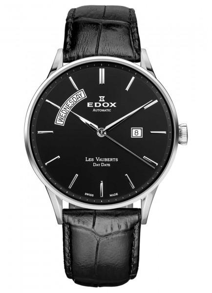 Edox Les Vauberts Day Date Automatic 83010 3N NIN