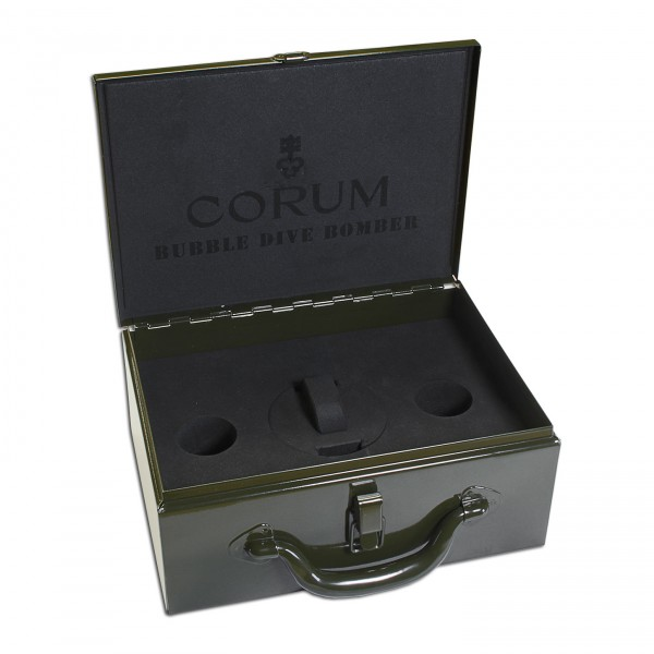 Corum Bubble Dive Bomber Metalkoffer Uhrenbox