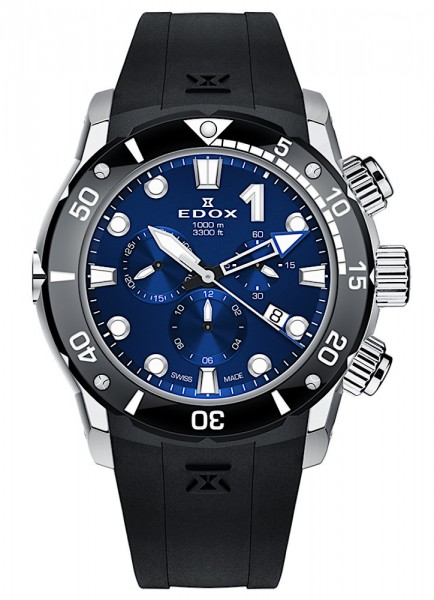 EDOX CO-1 Chronograph Datum Quarz 10242 TIN BUIN