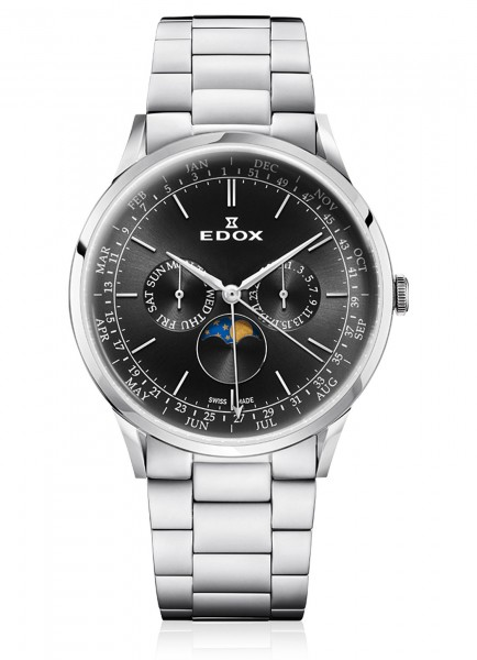 Edox Les Vauberts Moon Phase Complication 40101 3M NIN