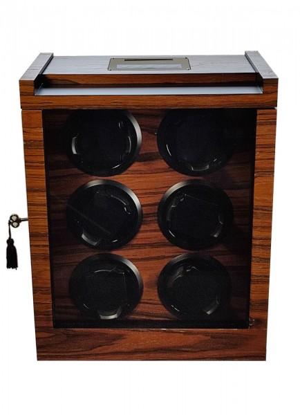 Uhrenbeweger für 6 Uhren UBO2043-Rosewood *Ausstellungsstück*