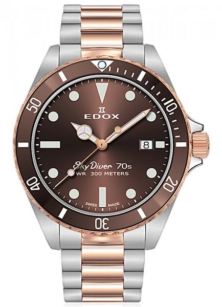 EDOX SkyDiver 70s Date Datum Quarz 53017 357RBRM BRI