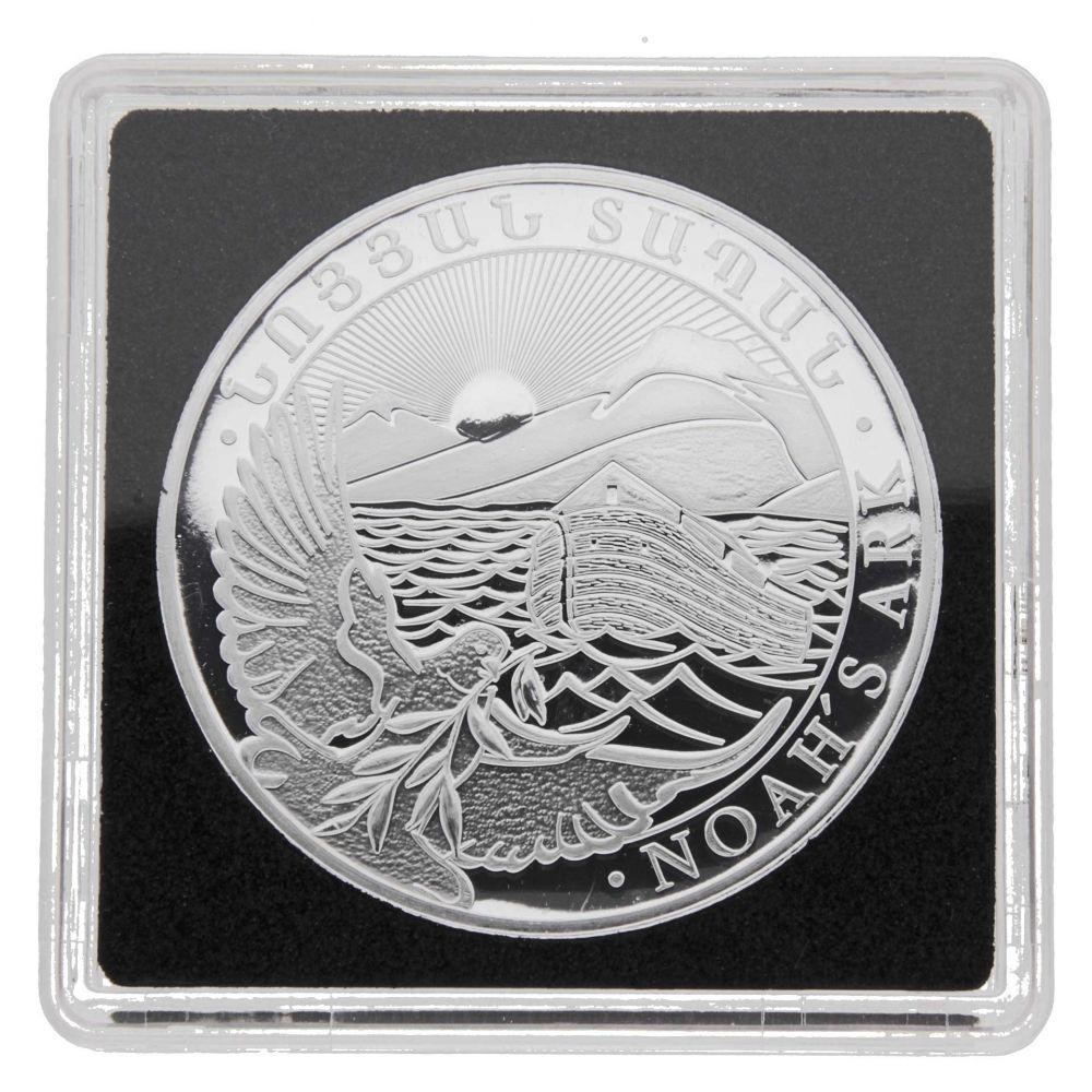 500 Oz Silvers: 2016 Armenia 1 Oz Silver 500 Drams Noah's Ark BU In